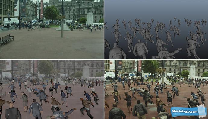 انتشار ویدئوهای Making of و VFX Breakdown فیلم جنگ جهانی زد