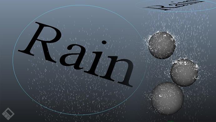 انتشار پلاگین رایگان Rain Tool ابزاری جهت شبیه سازی باران در نرم افزار Maya
